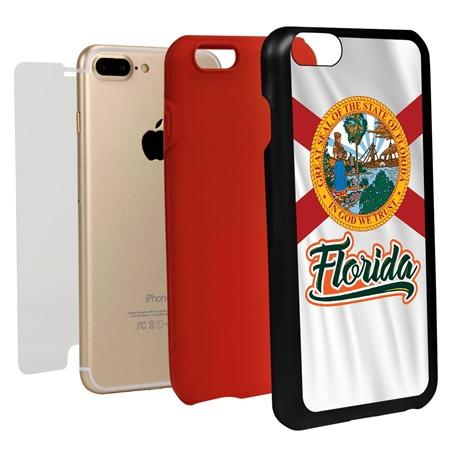 Guard Dog Florida State Flag Hybrid Phone Case for iPhone 7 Plus / 8 Plus