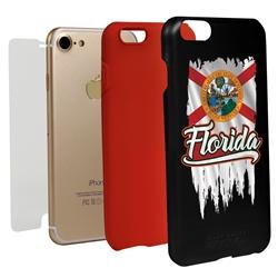 Guard Dog Florida Torn State Flag Hybrid Phone Case for iPhone 7/8/SE