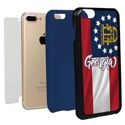 Guard Dog Georgia State Flag Hybrid Phone Case for iPhone 7 Plus / 8 Plus