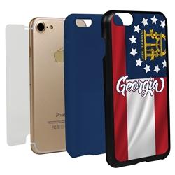 Guard Dog Georgia State Flag Hybrid Phone Case for iPhone 7/8/SE