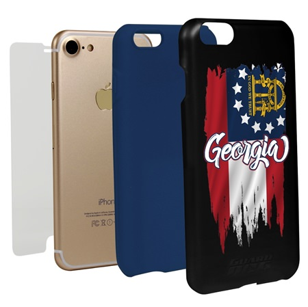 Guard Dog Georgia Torn State Flag Hybrid Phone Case for iPhone 7 / 8