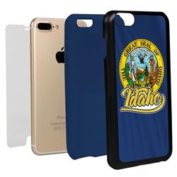 Guard Dog Idaho State Flag Hybrid Phone Case for iPhone 7 Plus / 8 Plus