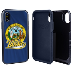 Guard Dog Idaho State Flag Hybrid Phone Case for iPhone X / Xs