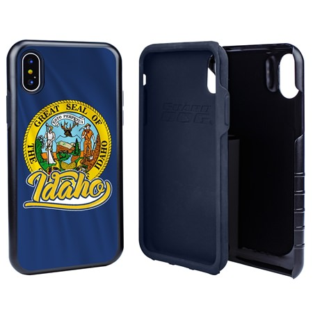 Guard Dog Idaho State Flag Hybrid Phone Case for iPhone X / Xs
