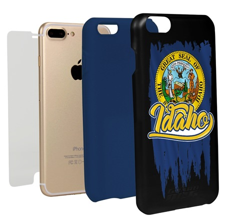 Guard Dog Idaho Torn State Flag Hybrid Phone Case for iPhone 7 Plus / 8 Plus