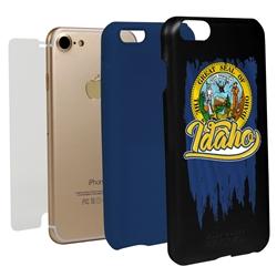 Guard Dog Idaho Torn State Flag Hybrid Phone Case for iPhone 7/8/SE