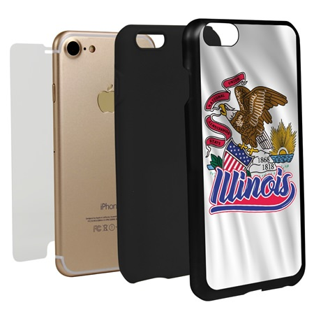 Guard Dog Illinois State Flag Hybrid Phone Case for iPhone 7 / 8