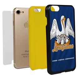 Guard Dog Louisiana State Flag Hybrid Phone Case for iPhone 7/8/SE
