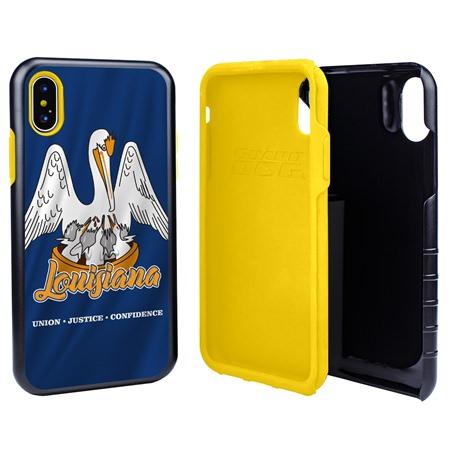 Guard Dog Louisiana State Flag Hybrid Phone Case for iPhone X / Xs