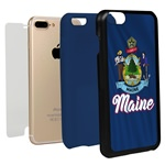Guard Dog Maine State Flag Hybrid Phone Case for iPhone 7 Plus / 8 Plus