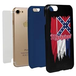 Guard Dog Mississippi Torn State Flag Hybrid Phone Case for iPhone 7/8/SE