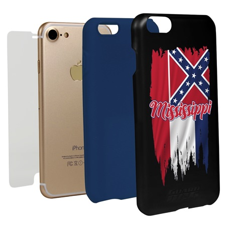 Guard Dog Mississippi Torn State Flag Hybrid Phone Case for iPhone 7 / 8