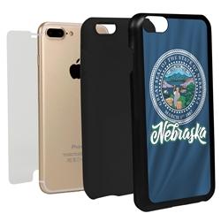 Guard Dog Nebraska State Flag Hybrid Phone Case for iPhone 7 Plus / 8 Plus