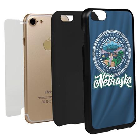 Guard Dog Nebraska State Flag Hybrid Phone Case for iPhone 7/8/SE