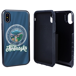 Guard Dog Nebraska State Flag Hybrid Phone Case for iPhone X / Xs