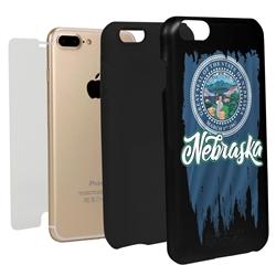 Guard Dog Nebraska Torn State Flag Hybrid Phone Case for iPhone 7 Plus / 8 Plus