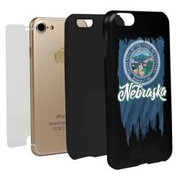 Guard Dog Nebraska Torn State Flag Hybrid Phone Case for iPhone 7/8/SE