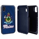 Guard Dog Maine State Flag Hybrid Phone Case for iPhone X / Xs