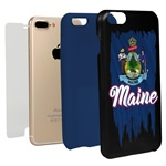 Guard Dog Maine Torn State Flag Hybrid Phone Case for iPhone 7 Plus / 8 Plus