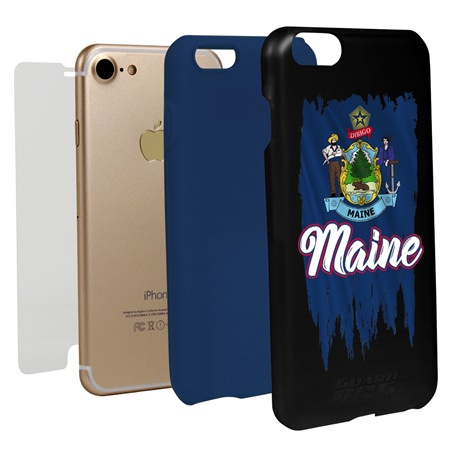 Guard Dog Maine Torn State Flag Hybrid Phone Case for iPhone 7 / 8