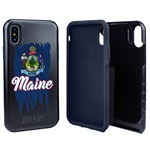 Guard Dog Maine Torn State Flag Hybrid Phone Case for iPhone X / Xs