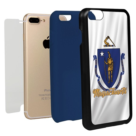 Guard Dog Massachusetts State Flag Hybrid Phone Case for iPhone 7 Plus / 8 Plus