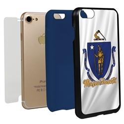 Guard Dog Massachusetts State Flag Hybrid Phone Case for iPhone 7/8/SE