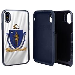 Guard Dog Massachusetts State Flag Hybrid Phone Case for iPhone X / Xs