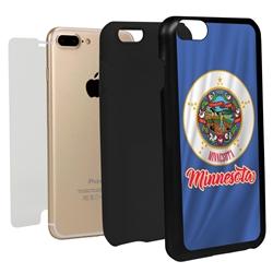 Guard Dog Minnesota State Flag Hybrid Phone Case for iPhone 7 Plus / 8 Plus