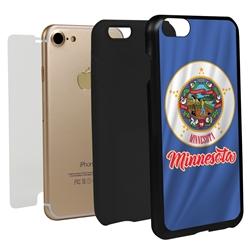 Guard Dog Minnesota State Flag Hybrid Phone Case for iPhone 7/8/SE