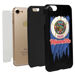 Guard Dog Minnesota Torn State Flag Hybrid Phone Case for iPhone 7/8/SE