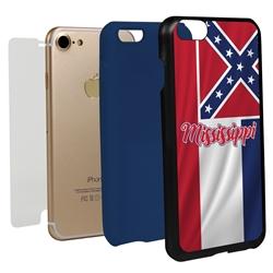 Guard Dog Mississippi State Flag Hybrid Phone Case for iPhone 7/8/SE