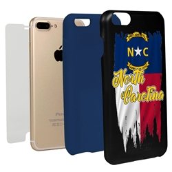 Guard Dog North Carolina Torn State Flag Hybrid Phone Case for iPhone 7 Plus / 8 Plus