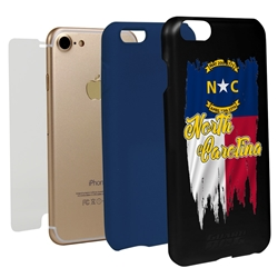 Guard Dog North Carolina Torn State Flag Hybrid Phone Case for iPhone 7/8/SE