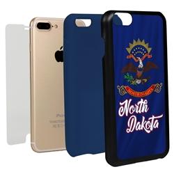 Guard Dog North Dakota State Flag Hybrid Phone Case for iPhone 7 Plus / 8 Plus