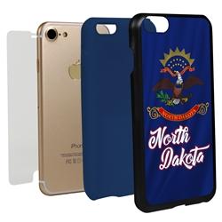 Guard Dog North Dakota State Flag Hybrid Phone Case for iPhone 7/8/SE