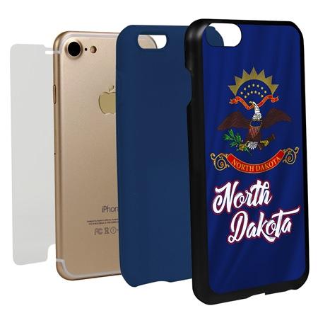 Guard Dog North Dakota State Flag Hybrid Phone Case for iPhone 7 / 8