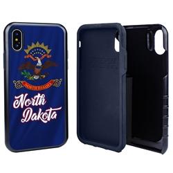 Guard Dog North Dakota State Flag Hybrid Phone Case for iPhone X / Xs