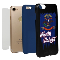 Guard Dog North Dakota Torn State Flag Hybrid Phone Case for iPhone 7/8/SE