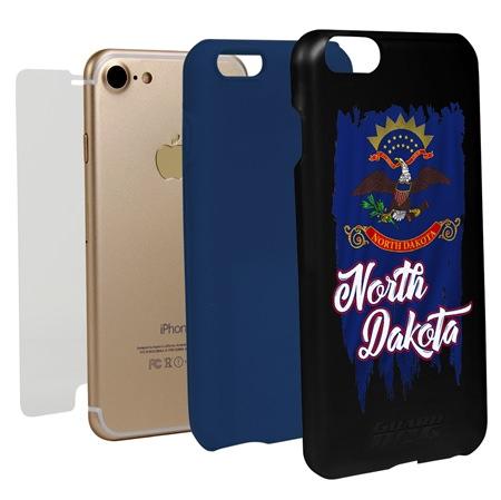 Guard Dog North Dakota Torn State Flag Hybrid Phone Case for iPhone 7 / 8