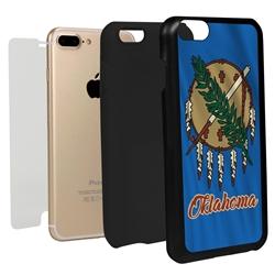 Guard Dog Oklahoma State Flag Hybrid Phone Case for iPhone 7 Plus / 8 Plus