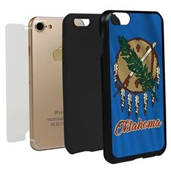 Guard Dog Oklahoma State Flag Hybrid Phone Case for iPhone 7/8/SE