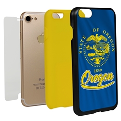 Guard Dog Oregon State Flag Hybrid Phone Case for iPhone 7/8/SE