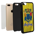 Guard Dog New Jersey State Flag Hybrid Phone Case for iPhone 7 Plus / 8 Plus