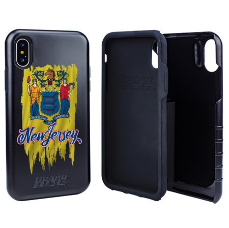 Guard Dog New Jersey Torn State Flag Hybrid Phone Case for iPhone X / Xs