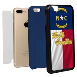 Guard Dog North Carolina State Flag Hybrid Phone Case for iPhone 7 Plus / 8 Plus