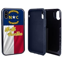 Guard Dog North Carolina State Flag Hybrid Phone Case for iPhone X / Xs