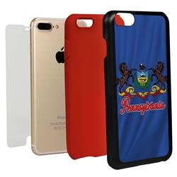 Guard Dog Pennsylvania State Flag Hybrid Phone Case for iPhone 7 Plus / 8 Plus