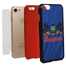 Guard Dog Pennsylvania State Flag Hybrid Phone Case for iPhone 7/8/SE