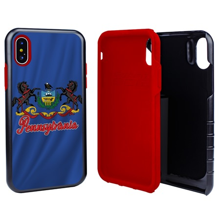 Guard Dog Pennsylvania State Flag Hybrid Phone Case for iPhone X / Xs